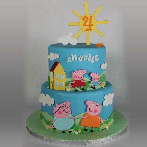 Sublime Kids Special 2 Tier Peppa Pig Cake