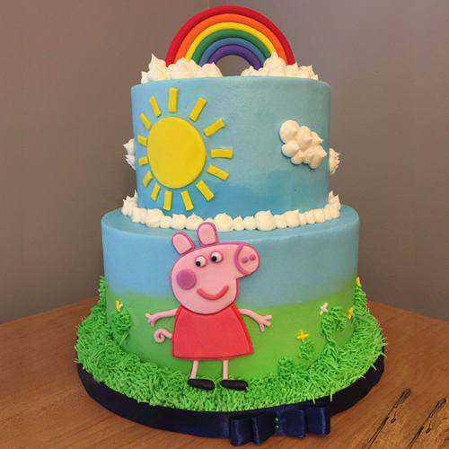 Sensational Peppa Pig 2 Tier Cake for Kids