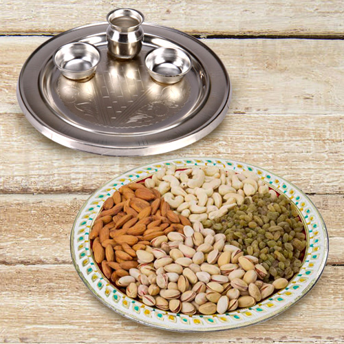 Aarti Thali with Assorted Dry Fruits