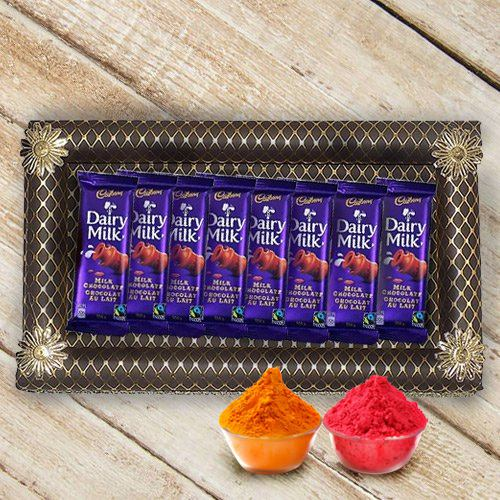 Zesty Selection of 8Pcs Cadbury Dairy Milk Chocolates