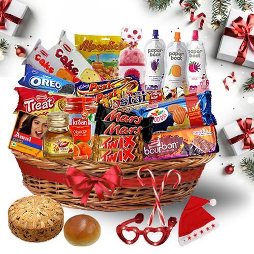 Trendy Christmas Treat Basket<br>