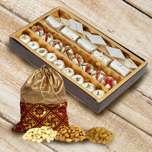 Combo of Assorted Haldirams Sweets and Dry Fruits