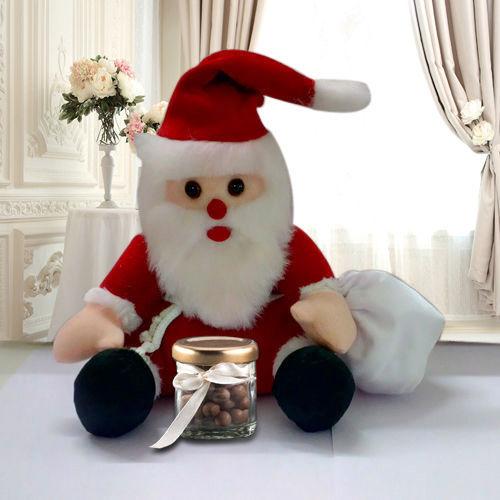 Sitting Santa with Cadbury Nutties