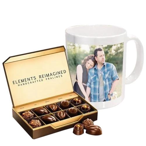 Marvelous Personalized Coffee Mug with ITC Premium Chocolates