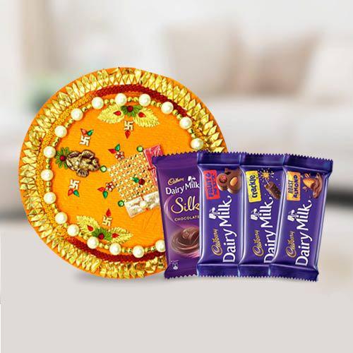 Assorted Cadbury Chocolates n Pooja Thali