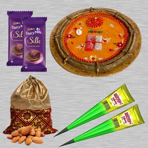 Wonderful Karwa Chauth Puja Gifts with Cadbury Silk n Almonds