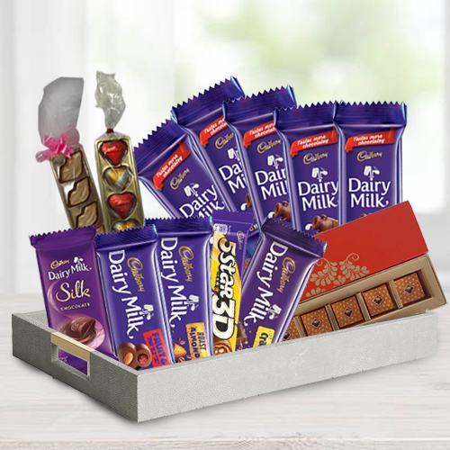 Chocolaty 5th Years Valentine Treat Gift Hamper