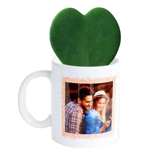Amazing Hoya Heart Plant in Personalized Coffee Mug