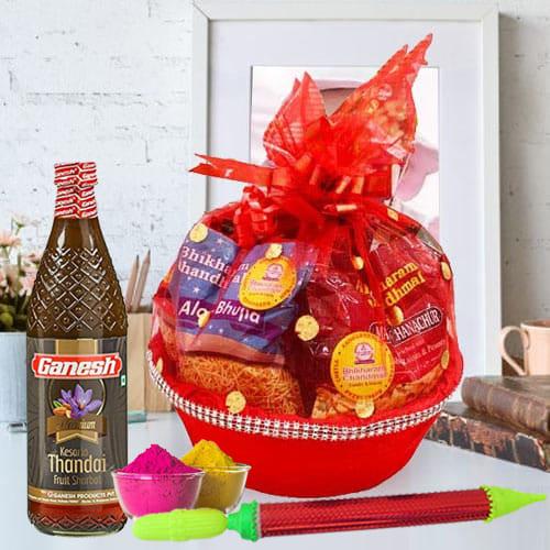 Exclusive Snacks n Thandai Gift Hamper for Holi