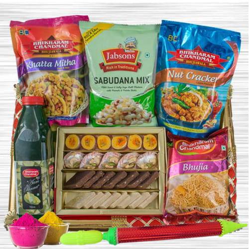 Delightful Munches Gift Hamper for Holi