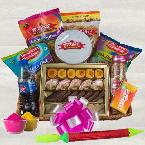 Marvelous Sweets n Snacks Gift Hamper for Holi