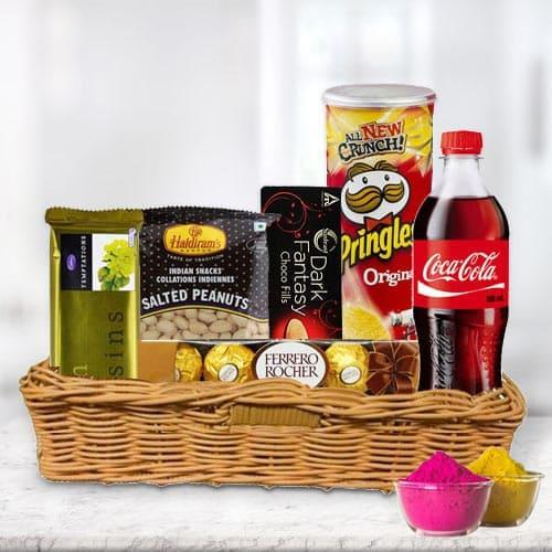 Enticing Snacks Gift Hamper for Holi