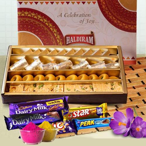 Yummy Sweets n Chocolates Gift Combo for Holi