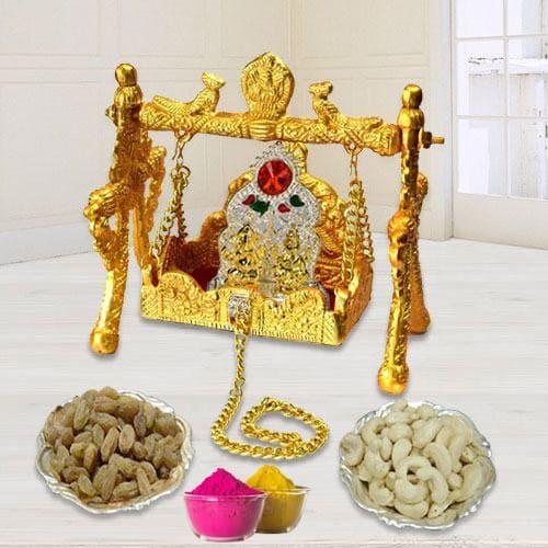 Auspicious Ganesh Laxmi Palana with Ganesh Laxmi Mandap n Dry Fruits