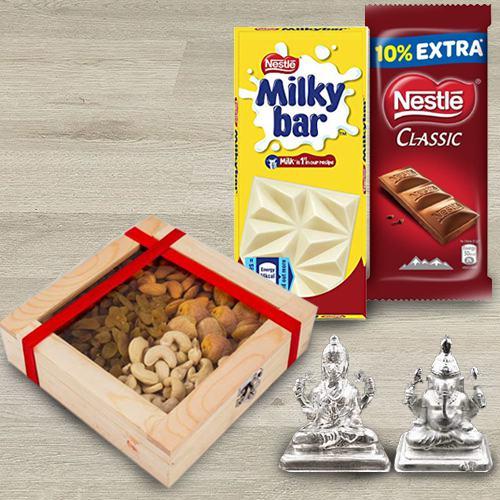 Yummy Nestle Chocolates Delight with Dry Fruits, Idol