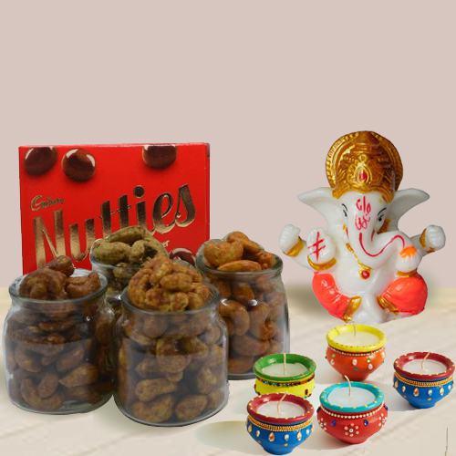 Distinctive Flavored Cashews Pack with Lord Idol N Matka Diya
