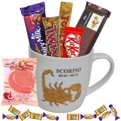 Fantastic Scorpio Sun Sign Printed Mug with Chocolate Assortment