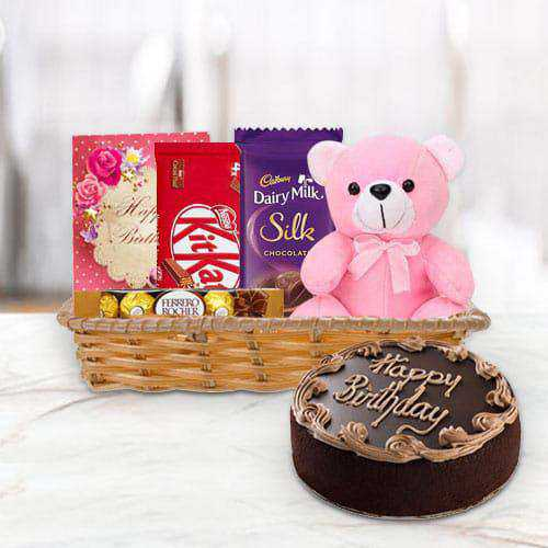 Online Gift Combo of Birthday Gifts N Chocolate Cake