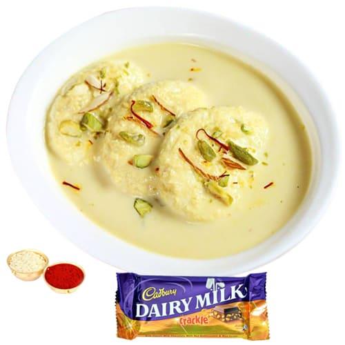 Sumptuous Rasmalai N Cadbury Crackle