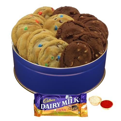 Delectable Cookies N Dairy Milk Crackle