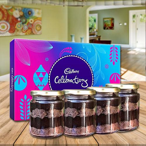 Yummy Jar Cakes with Assorted Cadbury Chocolates