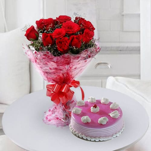 Fresh Baked Birthday Cakes with Roses