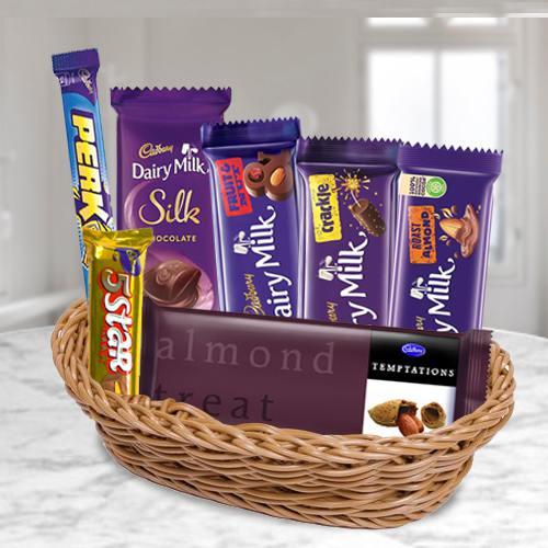 Pamper Your Mom with Cadbury Chocolates Basket