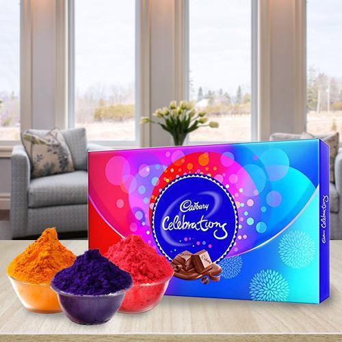 Playfull Herbal Gulal with Cadbury Chocolates