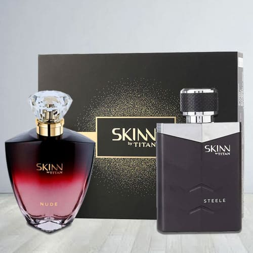 Exclusive Titan Skinn Nude and steele Fragrances Pair