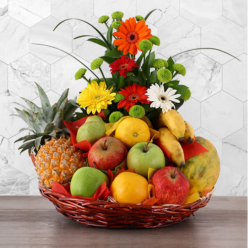 Nourishing Fruits n Flowers Gift Basket