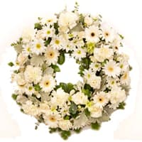 Pretty Mixed Flowers Wreath