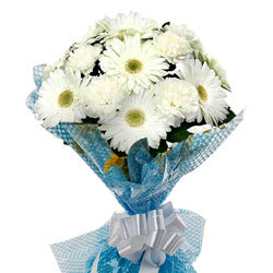 Divine Love You More White Gerberas with Fillers