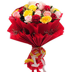 Radiant Mixed Roses Bouquet