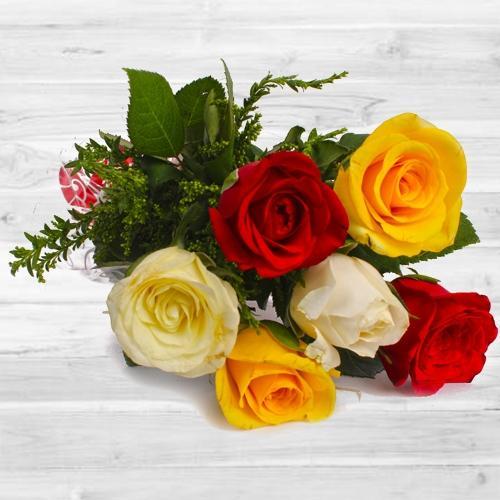 Classic 6 pcs Mixed Rose Bouquet