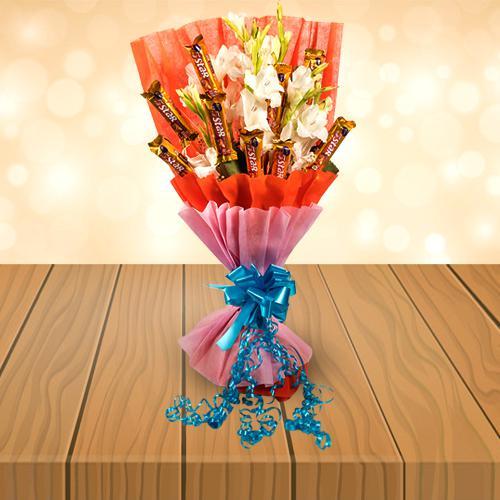 Wonderful Bouquet of Gladiolus N Cadbury 5 Star