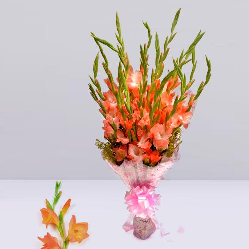 Elegant Pink Gladiolus Bouquet