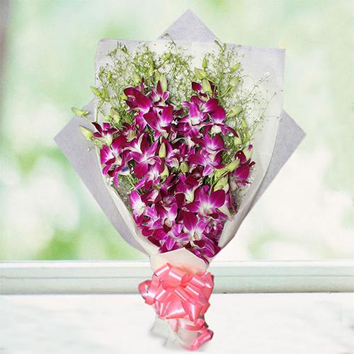 Fabulous Purple Orchids Bouquet