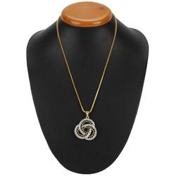 Blush-of-Feeling Chiaroscuro Diamond Pendant with Chain