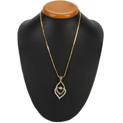 Fascinating Golden Flame Necklace nd Fernanda Pendant