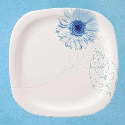 Exquisite Servewell Blue Daisy Square n Round Dinner Plates