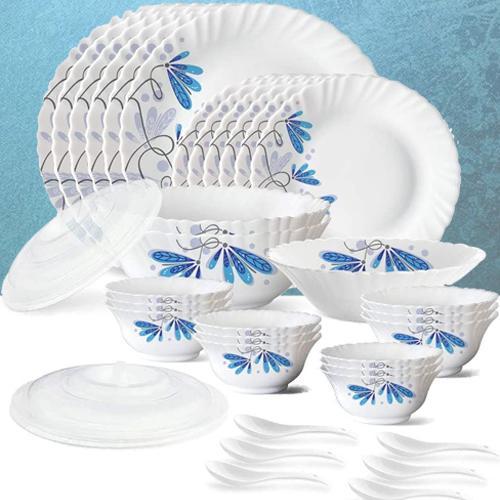 Alluring Larah by Borosil Twilight Silk Series Dinner Set