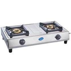 GLEN two burner stainless steel cooktop