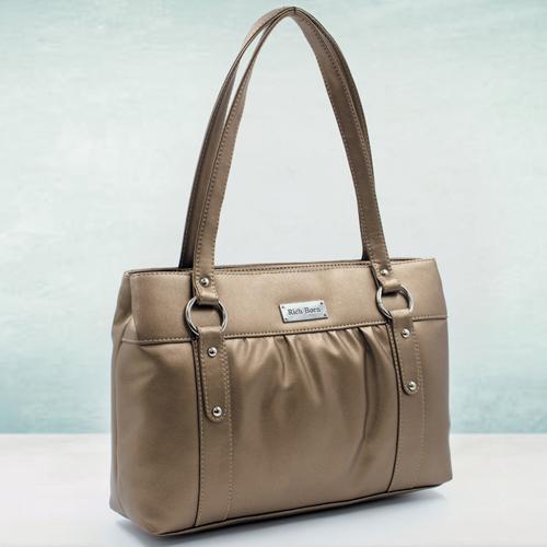 Glamorous Golden Color Handbag for Her