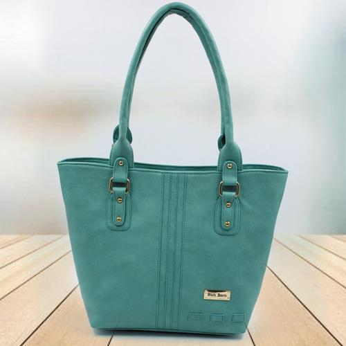 Fabulous Sea Green Leather Vanity Bag for Ladies
