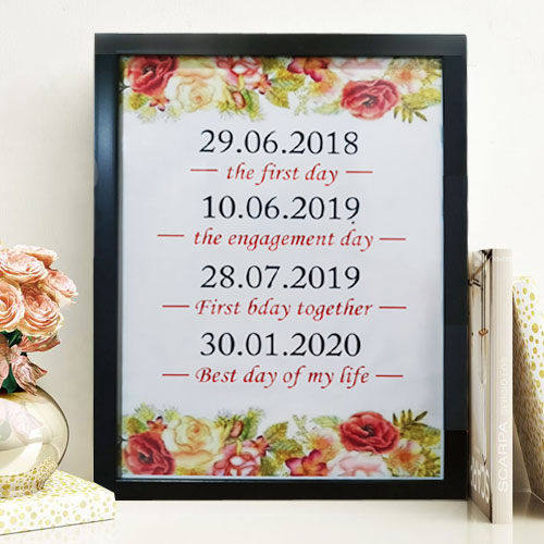 Stylish Date Frame
