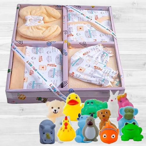 Exclusive Clothing Set N Animal Shape Bath Toy Set