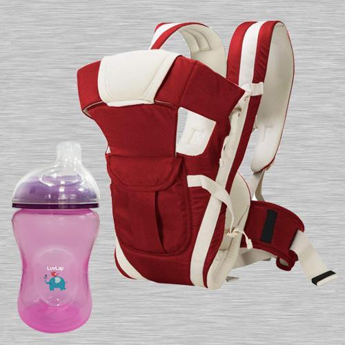 Exclusive LuvLap Jumbo Sky Sipper N Baby Carrier Cum Kangaroo Bag<br>