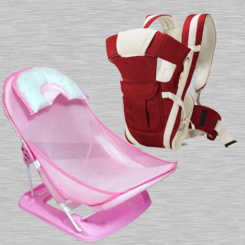 Wonderful Baby Carrier Cum Kangaroo Bag N Baby Bather