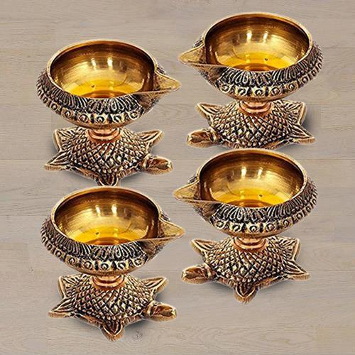 Exclusive Brass Diya Set