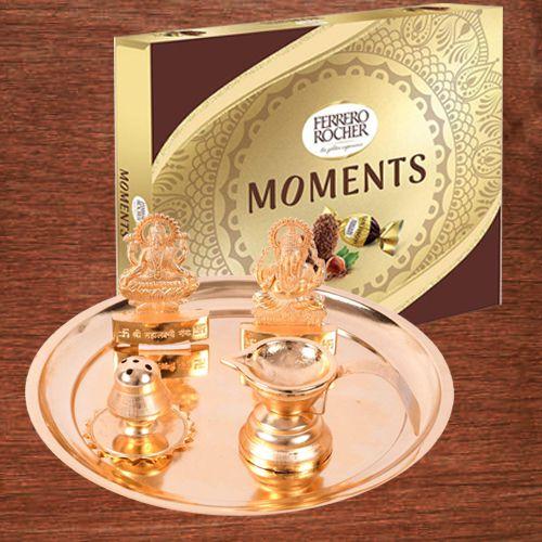 Exclusive Puja Samagri Set with Ferrero Rocher